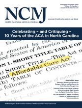 North Carolina Medical Journal: 81 (6)